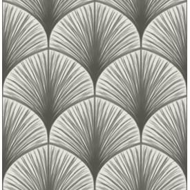 Dusk Grey Frond Wallpaper