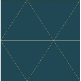 Twilight Teal Geometric Wallpaper
