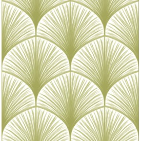 Dusk Green Frond Wallpaper