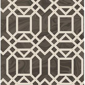 Daphne Brown Trellis Wallpaper