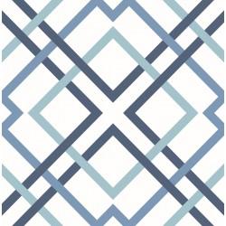 Saltire Emile Blue Lattice Wallpaper