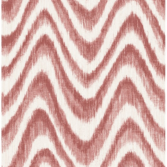 Bargello Red Faux Grasscloth Wave Wallpaper