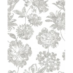 Folia Taupe Floral Wallpaper
