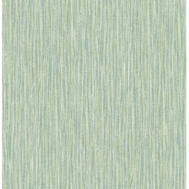 Raffia Thames Green Faux Grasscloth Wallpaper