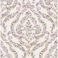 Featherton Pink Floral Damask Wallpaper