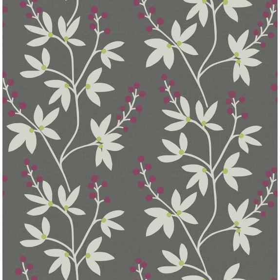 Linnea Elsa Charcoal Botanical Trail Wallpaper