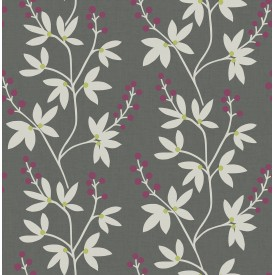 Linnea Elsa Charcoal Botanical Trail Wallpaper