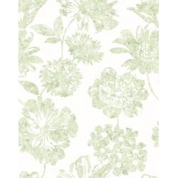 Folia Light Green Floral Wallpaper