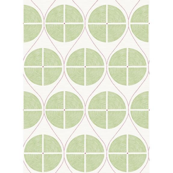 Luminary Green Ogee Wallpaper