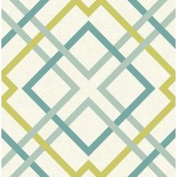 Saltire Emile Turquoise Lattice Wallpaper