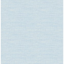 Agave Bliss Sky Blue Faux Grasscloth Wallpaper