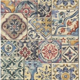 Marrakesh Tiles Multi Mosaic Wallpaper