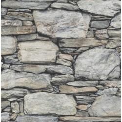 Stone Wall Grey Historic Wallpaper