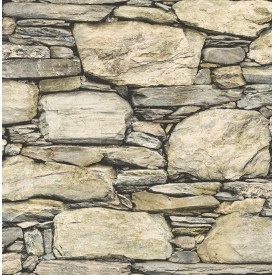 Stone Wall Wheat Historic Wallpaper