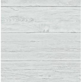 White Washed Boards Aqua Shiplap Wallpaper