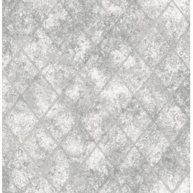 Mercury Glass Silver Distressed Metallic Wallpaper
