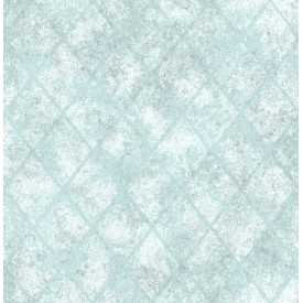 Mercury Glass Blue Distressed Metallic Wallpaper