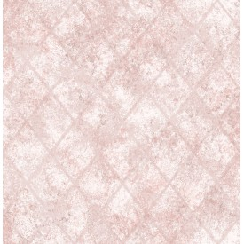 Mercury Glass Pink Distressed Metallic Wallpaper