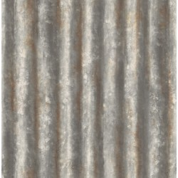 Corrugated Metal Charcoal Industrial Texture Wallpaper