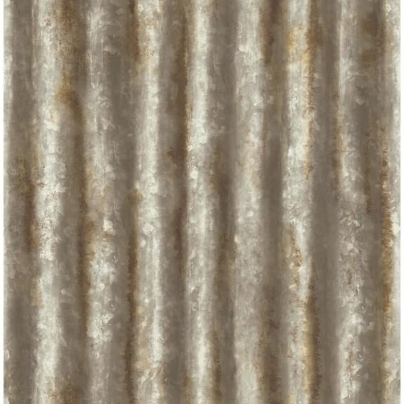 Corrugated Metal Rust Industrial Texture Wallpaper