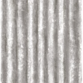 Corrugated Metal Silver Industrial Texture Wallpaper