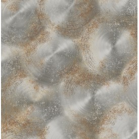Tarnished Metal Silver Metallic Texture Wallpaper
