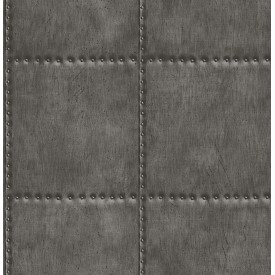 Sheet Metal Charcoal Rivets Wallpaper