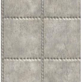 Sheet Metal Silver Rivets Wallpaper