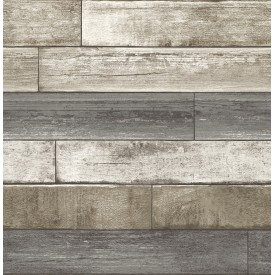 Weathered Plank Grey Wood Texture Wallpaper