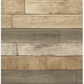 Weathered Plank Wheat Wood Texture Wallpaper