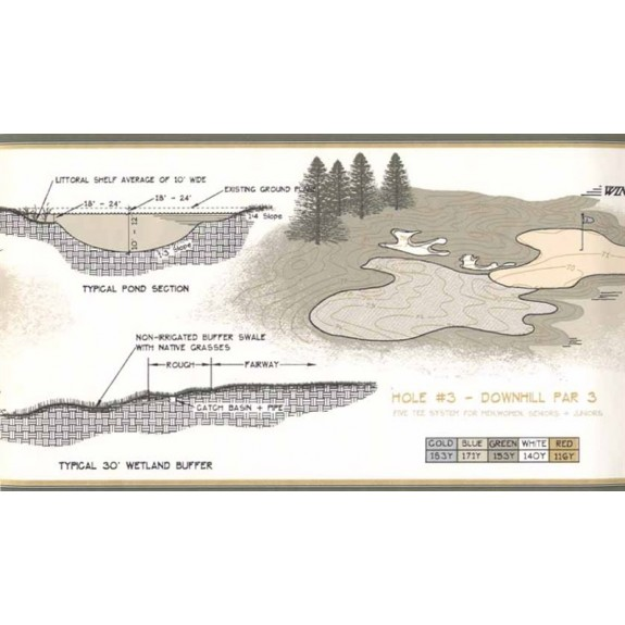 Palmer Golf Course Design Border