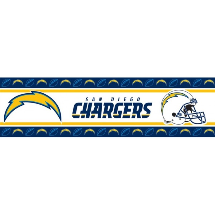Cha0615 San Diego Chargers Peel And Stick Border