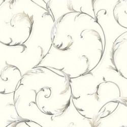 Leaf & Scroll Wallpaper