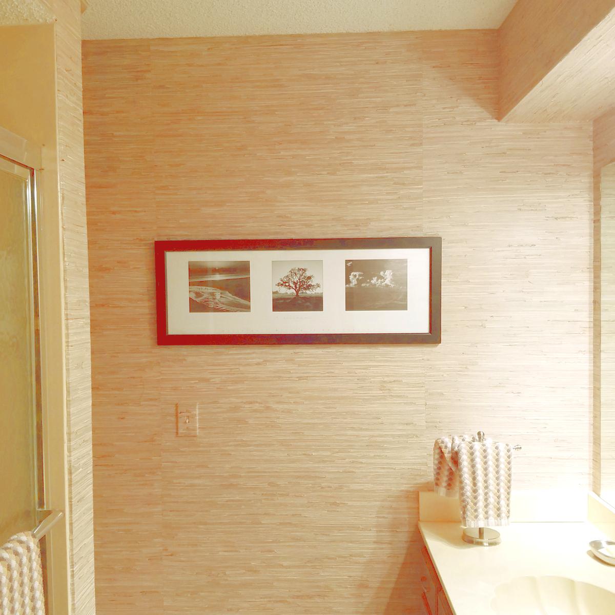 488 403 natural sea grass grasscloth wallpaper for Discount bathroom wallpaper